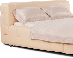 Saint Nazaire White Leather Bed