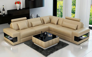 Fano Modern Leather Sectional