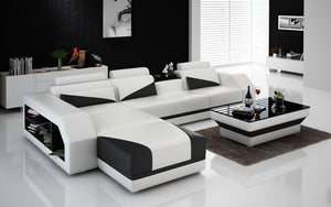 Kopp Leather Sectional With Storage