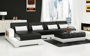 Ulubray Small Modern Leather Sectional
