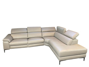 [In Stock Color: M5655 Dark Grey] Modern Kanis Power Recliner Sectional