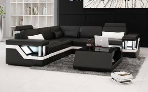 Emerson Modern Leather Sectional