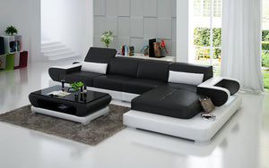 Ezrael Small Modern Leather Sectional