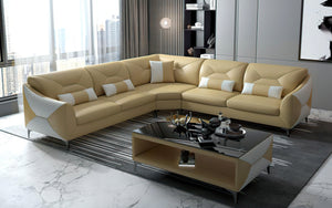 Bysic Leather Symmetrical Sectional