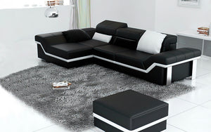 Gracia Leather Sectional Sofa With Chaise