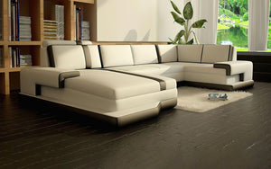 Pawnee Leather Sectional With Chaise
