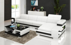 Zakary Leather Sectional with Storage
