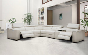 Birt Leather Sectional Sofa With Recliners