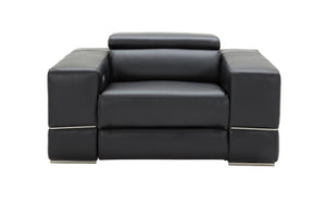 Yily Leather Modern Recliner Living Room Set