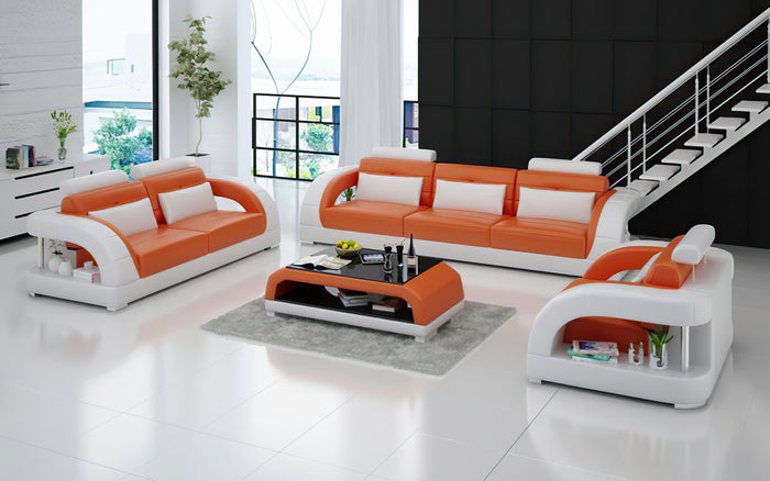 Lacus Modern Leather Sofa Set