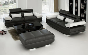 Merdell Modern Leather Sofa Set