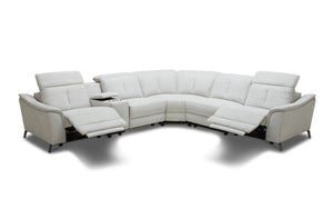 Rium Modern Fabric Sectional With Recliners
