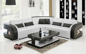 Hennessey Modern Leather Sectional