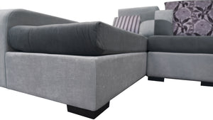 Selena Dark Grey & Light Grey Sectional With Chaise