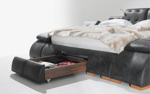 Maysun All in One Smart Bed With Massage Lounge Chaise