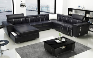 Uli Modern U Shape Leather Sectional