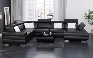 Tenafly Modern Sectional with Adjustable Headrest