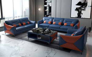 Bysic Leather Sofa Set