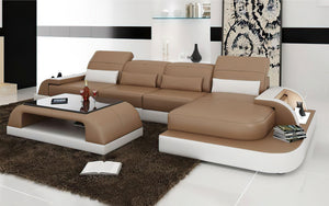 Brosnan Leather Sectional with LED Light