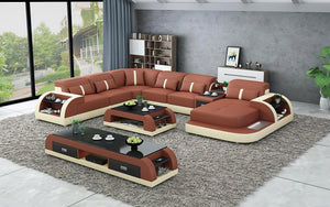 Blaylock Modern Sectional Sofa with LED Light