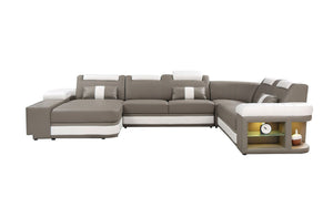 Angelas Leather Sectional with LED Light