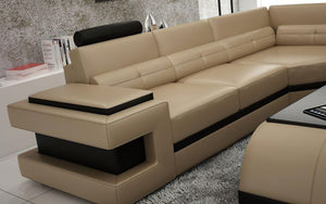 Kehlani Leather Sectional with LED Lights