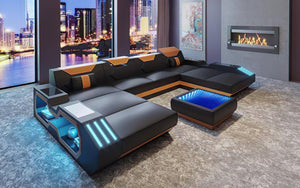 Sahara XL Leather Sectional with Side Storage