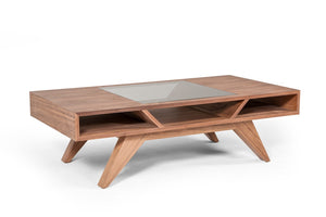 Douint Modern Walnut Coffee Table