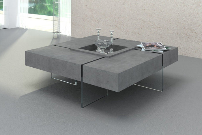 Suzu Modern Faux Concrete Floating Coffee Table