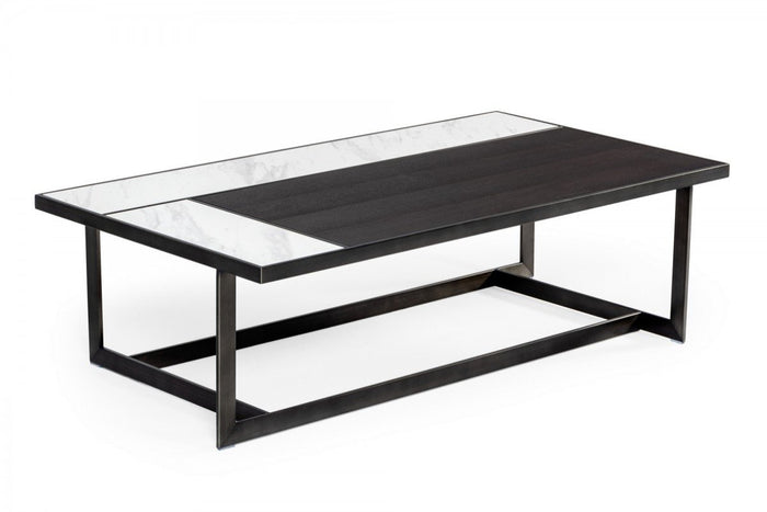 Falio Ceramic & Grey Walnut Coffee Table