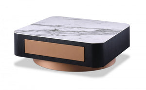Proiley Modern Black Oak Coffee Table