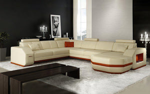 Bolinger Leather Sectional with Storage