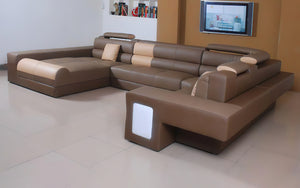 Asherton Functional Sectional with LED Light