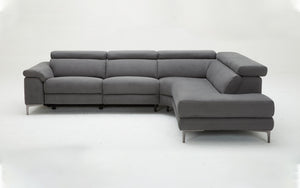 Modern Kony Fabric Power Recliner Sectional