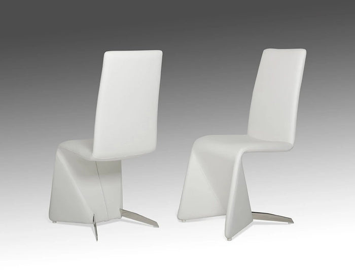 Nessder Contemporary White Dining Chair (Set of 2)