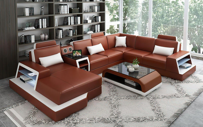 Civia Modern Leather Sectional