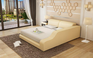 Kreutzer Leather Bed With Storage