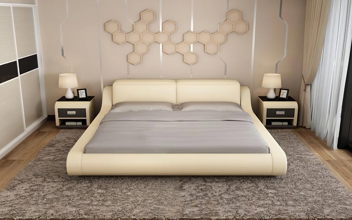 Hillsby Modern Leather Platform Bed