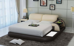 Braided Platform Bed with Storage