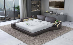 Mcguire Leather Bed With Storage