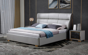 Fina Leather Bed