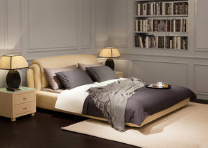 Mitsiwa Creme Leather Bed