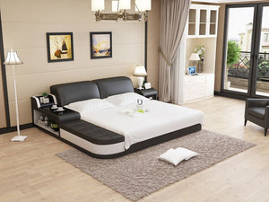 Modern Leather Bed
