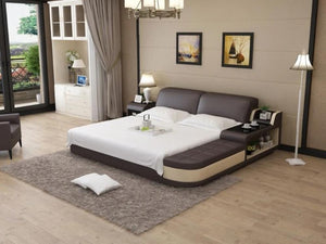Casper Leather Bed With Storage - Jubilee Home Furniture