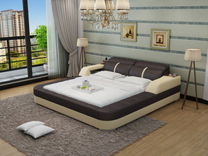 Denya Leather Bed With Storage - Jubilee Home Furniture