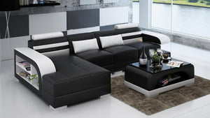 Eleese Small Modern Leather Sectional