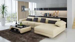Gileanas Small Modern Leather Sectional