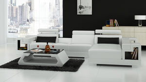 Uri Small Modern Leather Sectional