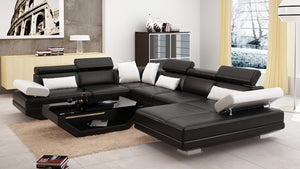 Merdell Modern U-Shape Leather Sectional