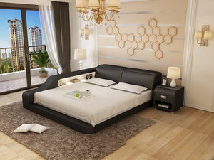 Black Leather Bed Frame